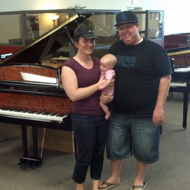 Jones Family at Piano Megastore