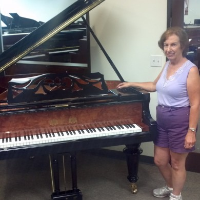 Mrs. Osborn at Piano Megastore