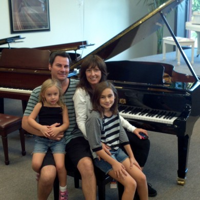 Carefoot Family at Piano Megastore