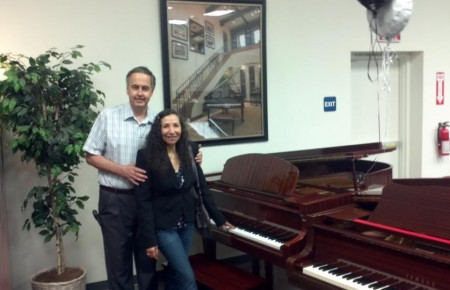 Wozny Family at Piano Megastore