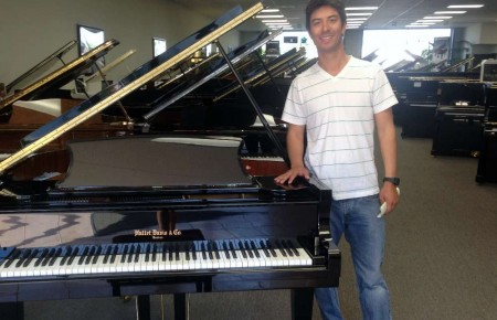 David Tarango and his new Hallet David Baby Grand