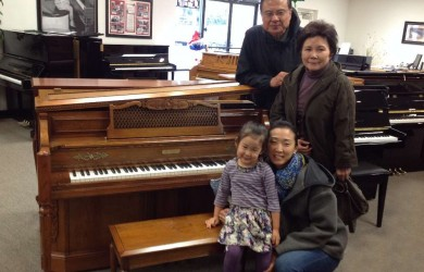 Vivian and Family and their beautiful Kohler Piano