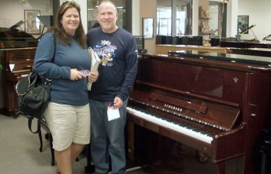 The Nelsons and their new Starr Piano